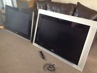 2 large Philips ambi light TVs
