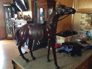 Hand made leather horse