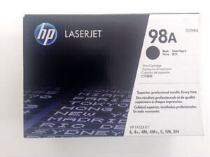 New HP 98A Black Original Laser Jet Toner Cartridge 92298A