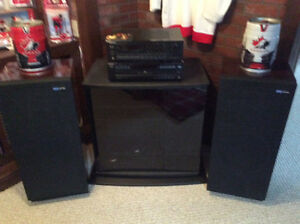 Pioneer Stereo and Stand