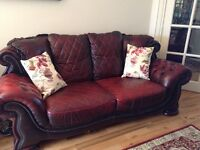 Genuine quality leather Chesterfield