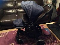 Graco evo pushchair with carrycot