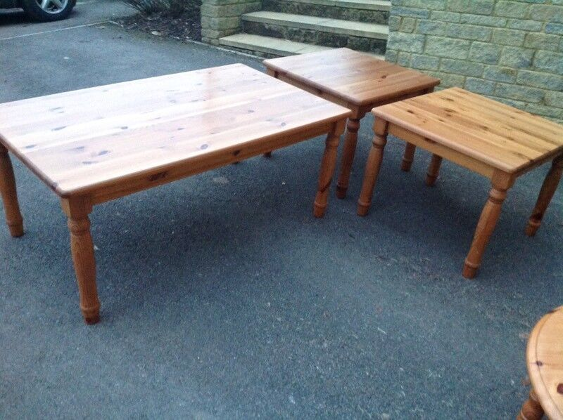 Ikea coffee table and two lamp tables