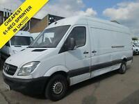 2011 61 MERCEDES-BENZ SPRINTER 2.1 313CDI LWB HIGH ROOF. 252K. FSH. BARAGIN. EXP