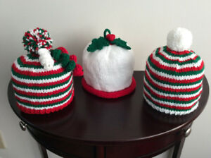 Hand Knit Christmas Hats and more....