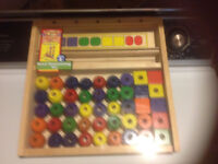 Quality...Doug & Melissa wooden Bead Sequencing Set ...$10.00