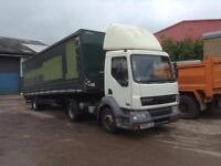 DAF FT LF55.220 URBAN TRACTOR UNIT WITH DON-BUR/PM20AG SINGLE AXLE CURTAIN SIDE