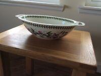 Portmeirion oval handled bowl