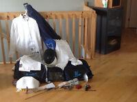 Équipement d'escrime sabre et fleuret pour juniors et ados