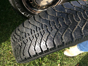 195 55 R15 Good Year snow tires with rims Reduced Kawartha Lakes Peterborough Area image 1