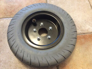 NEW TIRE PRIMO HOMER NYLON WITH RIM  AND TUBE 4.10/3.50-6 4P.R
