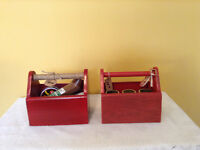 Small wooden Tool Boxes