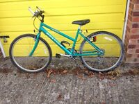Girls Green Raleigh Max Ogre 21 Bicycle