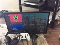 """Xbox one s 1tb and 22""""tv"""