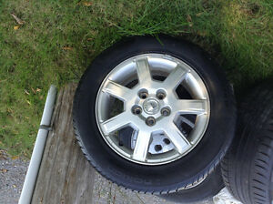 4 CADILLAC WHEELS 5X115mm. And 4 All-season Tires  225 55 R16