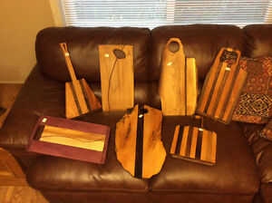 Hard wood cutting boards