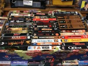 Entire Box Of 30 Or So Vhs Movies
