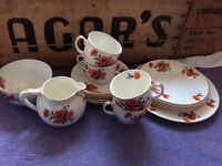 Poppy tea set