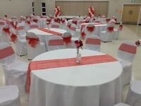 White Chair covers for rent @ $1.50 each