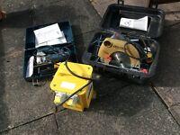 Jig saw and circular saw with transformer