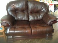 2 seater Leather Sofa - very comfortable - Quick sale -£25 ONO