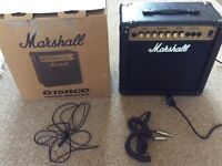 Marshall electric guitar amplifier G15R CD model.