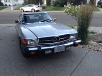 380 SL convertible, low mileage, hardtop, immaculate condition.