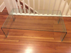 Italian Glass Coffee Table