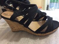 New Look Black Wedges New size 5 wide fit