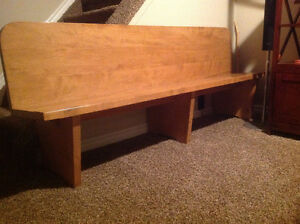 court bench - refinished - Located in Glencoe London Ontario image 2