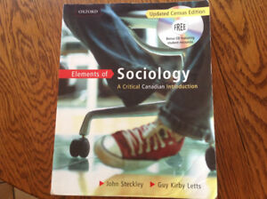 TEXTBOOK: Elements of Sociology by John Steckley & Guy Letts*