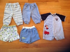 Boys shorts, pants and romper
