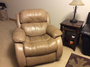 Leather Rocker Recliner Chair