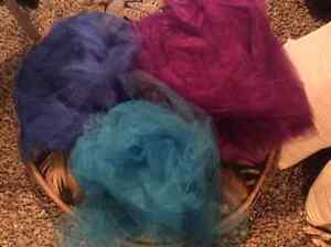 Tulle- purple, blue and teal