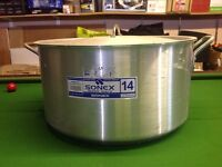 Two large Aluminium cooking pans