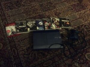 Blue PS3 slim 500gb with games