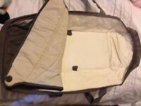 Grace travel system carrycot in brown