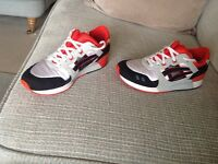Asics Gel Lyte III Black, Orange, White and Jordan Nike Flywire basketball shoes