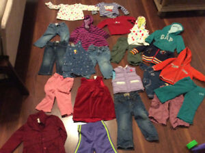 Large bag of 24 month and size 2 toddler winter clothing
