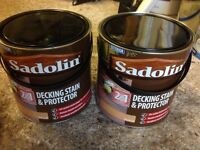 Sadolin Decking Stain and Protector Natural. 2 x 2.5l
