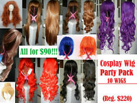 PARTY PACK of 10 Brand New Cosplay Wigs!!! (Reg. $220)