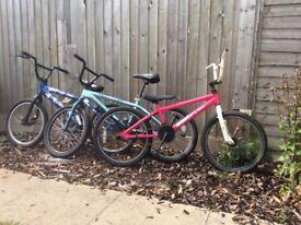 3 x BMX KIDS BIKES, HALL GREEN, B28