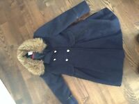Girls navy coat age 7