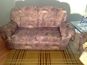 Lovely sofa with matching chair for sale. Neutral colours.
