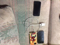 16 gb black Fido iPhone 5 with charger and cases
