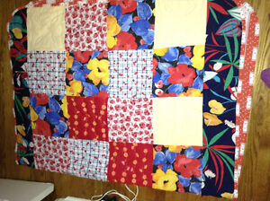Hand made and quilted lap quilt for sale London Ontario image 1