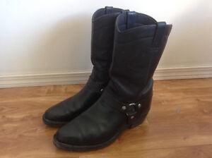 Biker boots size 12, black