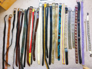 Belts: Mens accessories sold by the lot. Real leather men belts