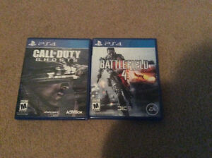 Two Ps4 games in great condition