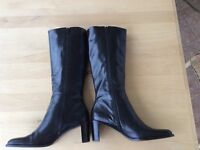 ALL LEATHER BOOTS SIZE 8 1/2M FROM ETIENNE AIGNER